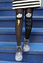 transpa rain boots by the whitepepper love the tights