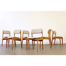 danish teak dining chairs beautiful o d mobler erik buch danish teak dining chairs set of 6