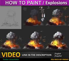 How to paint Explosions tutorial by JesusAConde on DeviantArt