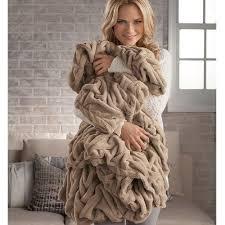 Brookstone Nap Deluxe Throw Blanket