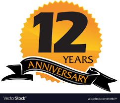 Anniversary Ribbon 12 Years Ribbon Anniversary Royalty Free Vector Image