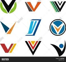 V Design Alphabetical Logo Vector Photo Free Trial Bigstock