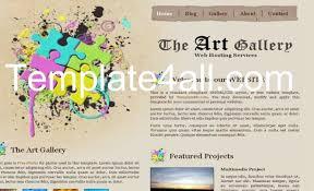 Free Grunge Art Gallery Brown Website Template