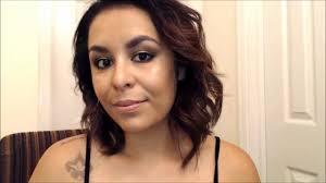 prom makeup bronzy skin with green gold smokey eyes