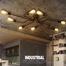 details about industrial edison large 4 6 8 10 lights barn metal semi flush mount ceiling lamp