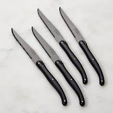 table knives. laguiole ® black steak knives, table knives