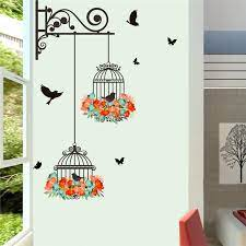 Decorate your home walls with wall art, photo frames, keyholders & more wall decor items & get discounts upto 50%. Creative Bird Cage With Flower Wall Art Stickers For Office Shop Bedroom Home Decoration Diy 3d Mural Art Pvc Wall Decal Wall Stickers Aliexpress