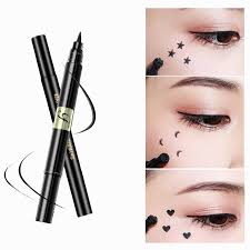 penram seal eyeliner waterproof glitter lining black brown double head professional cat eye makeup arrow cosmetics liquid