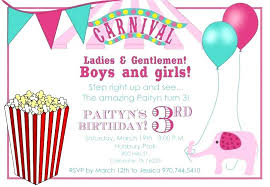 Circus Party Invitation Template Free Carnival Themed Birthday