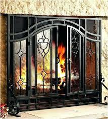 gas fireplace door gas fireplace glass