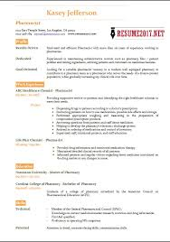 Pharmacist Resume Sample Interesting Pharmacist Resume 60 Templates