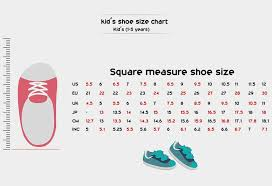 Kids Shoe Size Chart Inches Children Shoe Sizes By Age Chart Girls Boys
