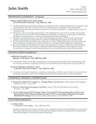 Clinical Research Associate Resume Clinical Research Assistant