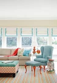 Aqua and Orange Living Room by Little Rock Interior Designers & Decorators  Tobi Fairley Interior Design