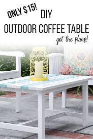 easy 15 diy outdoor coffee table