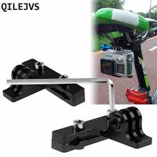 QILEJVS <b>1PC Cycle Bike Saddle</b> Rail <b>Seat</b> Mount Holder For Gopro ...