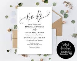 Editable Wedding Invitations Wedding Invitation Printable Wedding Template Download Invitations Wedding Pdf We Do Calligraphy Inv 18