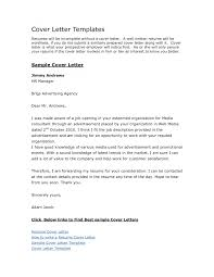 sample cover letter template sample cover letter