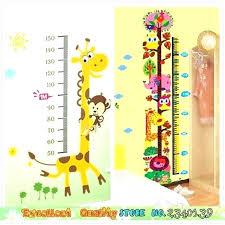 childrens growth chart for wall charts australia large size children sticker giraffe kids height measuring