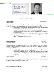 Cv And Resume Sample Perfect Resume