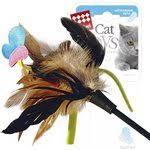 Купить <b>Игрушка GiGwi Cat Toys</b> Feather дразнилка для кошек ...