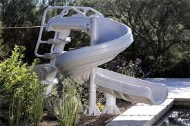 backyard pool with slides. Slide Into Water Fun With Our Swimming Pool Slides And Toys. This  Gives Your Outdoor Entertainment Area An Added Dimension. Backyard