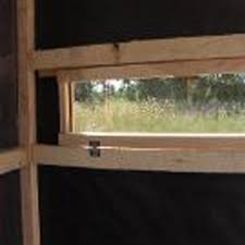 Deer Hunting Ground U0026 Box Blinds For Sale  Productive Cedar ProductsPlexiglass Deer Blind Windows