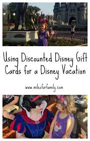 using ed disney gift cards for a disney vacation miles for family