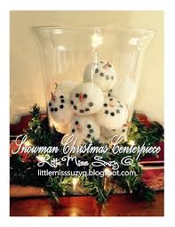 Snowman/Snowball Christmas Centerpiece