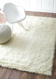 fluffy area rugs awesome white rug best fuzzy ideas on inside attractive
