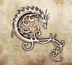čínsky Drak Tetování Stock Fotografie Royalty Free čínsky Drak