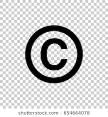copyright symbol isolated on transpa background black symbol for your design vector ilration