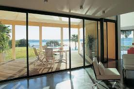 large floor to ceiling black sliding glass patio doors and windows ideas