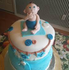 Baby Shower Cake Baby Boy On Blanket Debs Cookie Designs