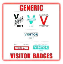 Company Id Badge Template With Id Badge Template Company Generic Visitor And Pass Main
