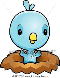bird nest clipart. Plain Bird A Cartoon Illustration Of A Baby Blue Bird In Nest Inside Bird Nest Clipart
