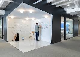office wall boards. an open whiteboard area inside the office where employees can share ideas decoist wall boards v