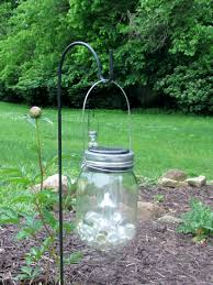 hanging solar mason jar lantern with dollar tree plant hangers and solar lights easy low