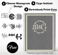 Free Monogram Binder Cover Customize Online Instant Download