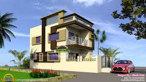 Indian model flat roof house