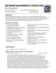 Engineer Resume Format Beautiful Software Engineer Resume Format