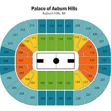 Palace Of Auburn Hills Concert Seating Chart With Rows