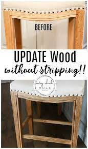 how to restain wood without stripping