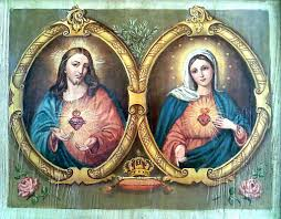 sacred heart of immaculate heart of mary by pio v