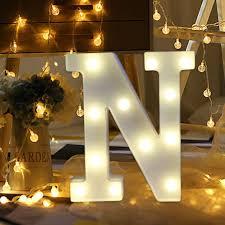Large Letter Lights Wedding Staron Light Up Letters A M N Z Warm White Led Letter