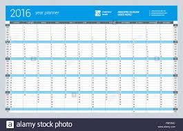 Yearly Calendar Planner Template Yearly Wall Calendar Planner Template For 2016 Year Vector Design