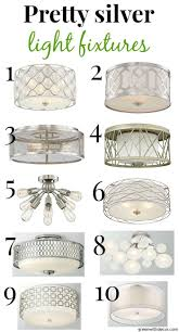 Pretty Bedroom Ceiling Lights 10 Pretty Close To The Ceiling Silver Light Fixtures