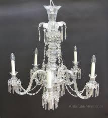 1950s 5 arm glass czech chandelier