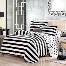white comforter sets full modern black and white polka dot and stripe print modern chic traditional