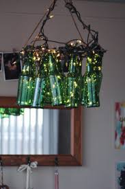 mesmerizing glass bottle chandelier green home design recycled chandeliers lovely beer bottles large size of round wood retro french for small spaces